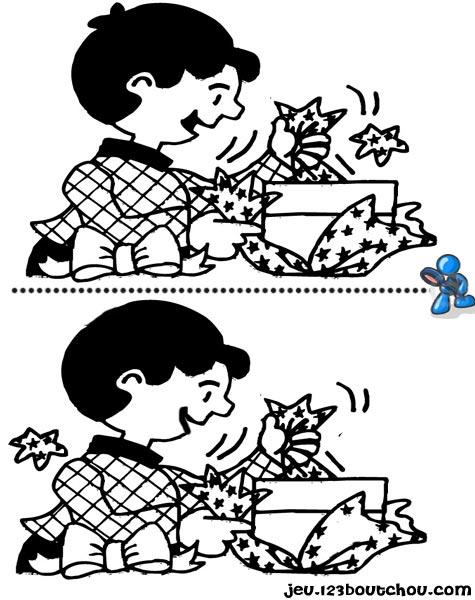 7 différences enfant fiche 7 différences fetes / cadeau noel