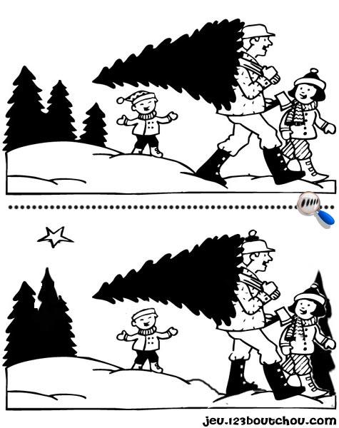 7 différences enfant fiche 7 différences fetes / noel