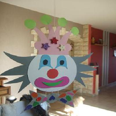 Favorit Fiches activités manuelles fête 'clown pour carnaval' pour enfants  AC43