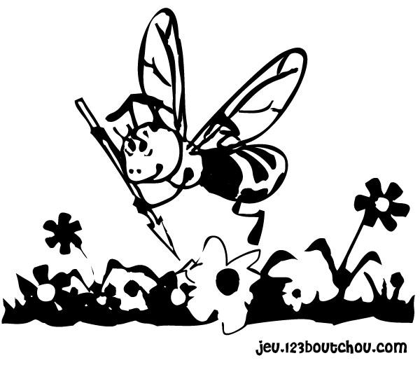 Coloriage Abeille Maternelle.La Abeille Dino Et Son Ami Toto Pour Enfants A Imprimer Gratuitement