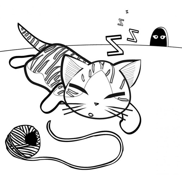 Pito le plus rigolo - Dessin de chat rigolo ...