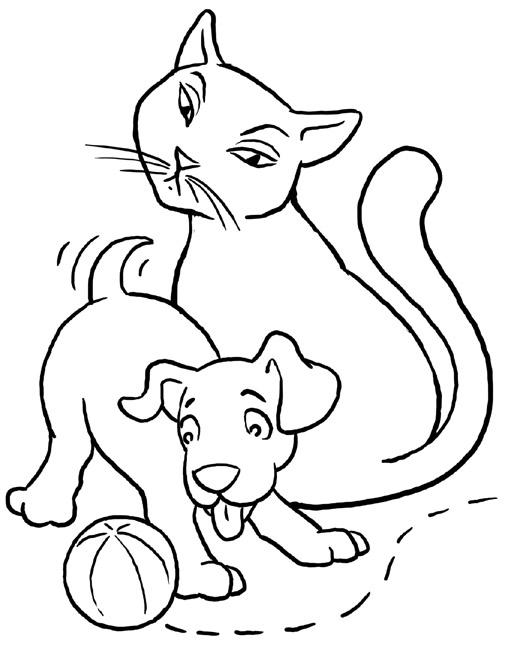 Chat Et Chien Pour Enfants A Imprimer Gratuitement
