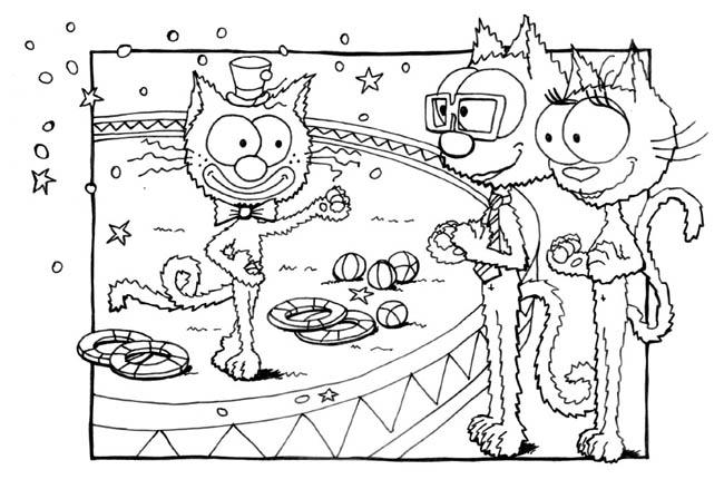 Coloriage Piste Cirque.Coloriage De Chat Cirque Pour Enfants A Imprimer Gratuitement