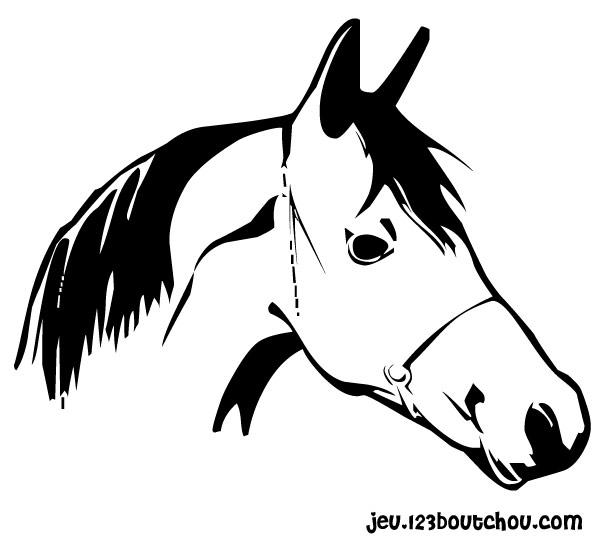 Adam le cheval - 123 coloriage ...