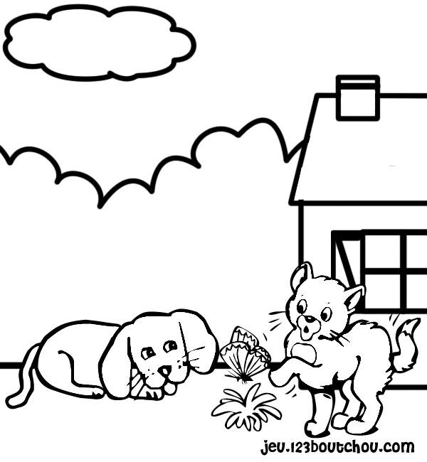 Maman papa expliquez moi ce joli coloriage d 39 enfant - Coloriage de chien boxer ...