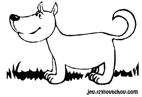 coloriage Mimo, le bébé chien à imprimer