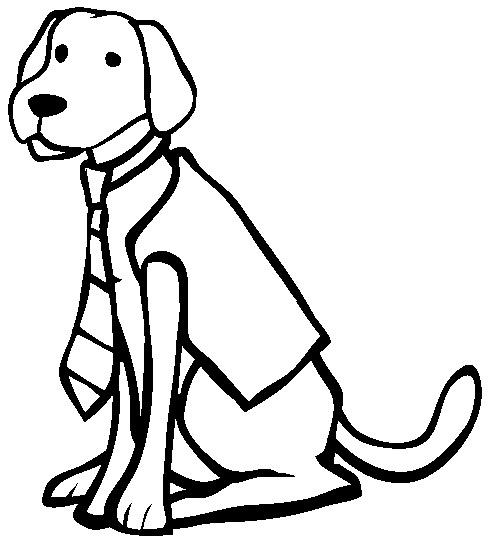 Chien labrador - Coloriage labrador ...