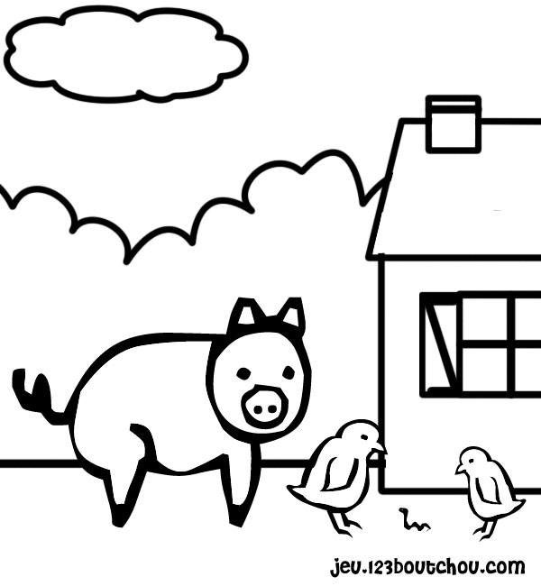 Cochon rigolo - 123 coloriage ...