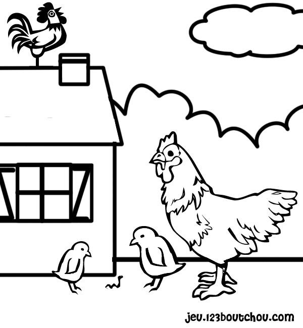 Poule Et Coq Pour Enfants à Imprimer Gratuitement