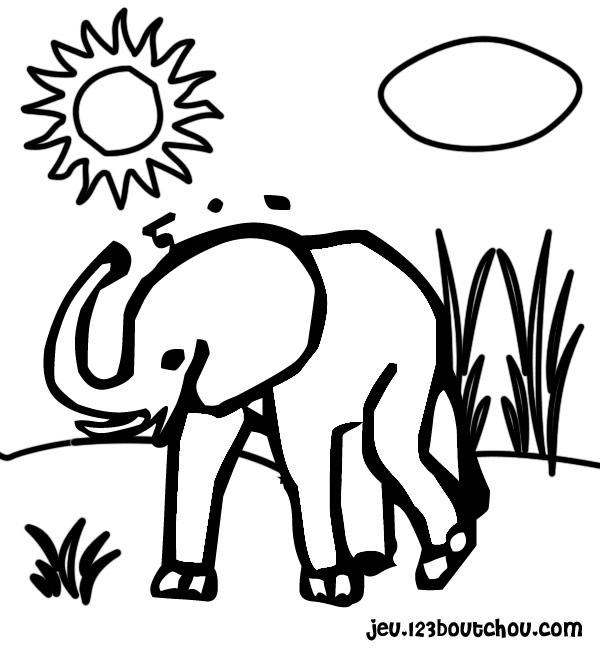 Coloriage elmer l éléphant à imprimer
