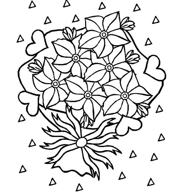 Coloriage dessin bonne fete maman à colorier à imprimer