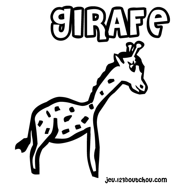 Maman papa expliquez moi ce joli coloriage d 39 enfant - Coloriage de girafe ...