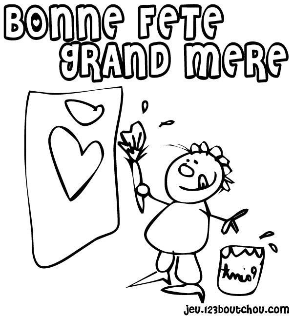 Coloriage Pour Fete Des Grand Mere.Youpi C Est La Fete De Coloriage Pour La Fete Des Grand Mere Pour