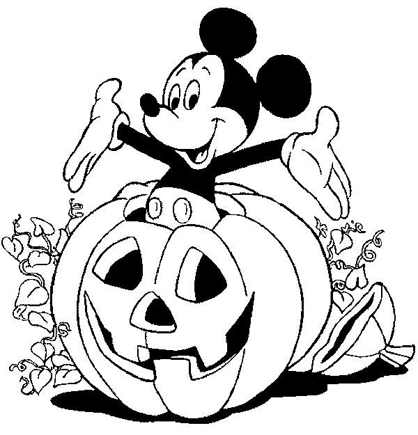 coloriage Halloween et Disney à imprimer