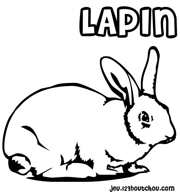 Coloriage jojo lapin à imprimer