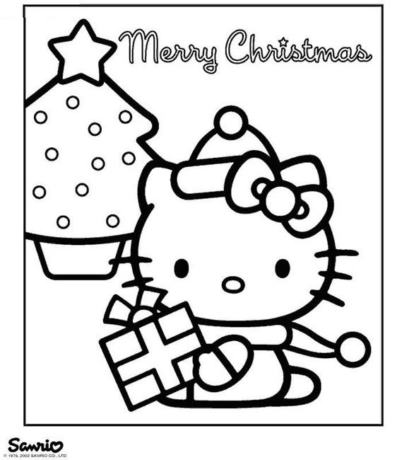 Hello Kitty Noel Et Son Ami Pour Enfants A Imprimer Gratuitement