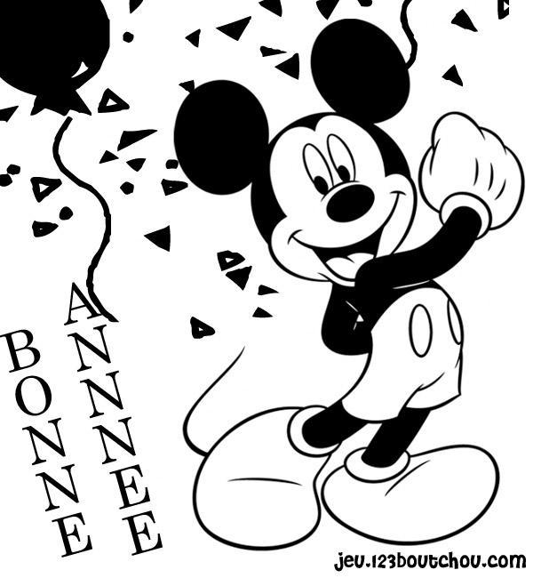 Cuisine Pour Coloriage Bonne Annee Disney Pour Enfants A Imprimer Gratuitement