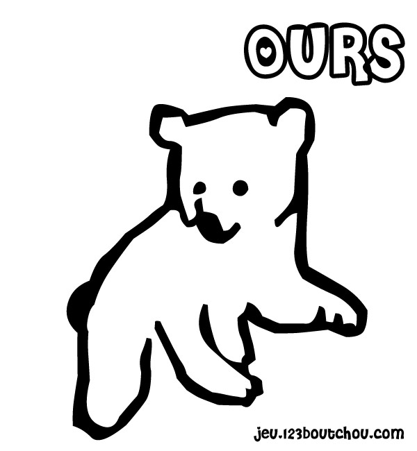 Coloriage Bebe Nounours.Bebe Ours Pour Enfants A Imprimer Gratuitement