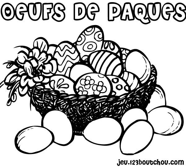 Coloriage chocolat et f te paques - Dessin de paques a imprimer gratuit ...