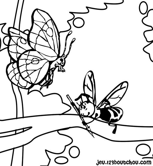Coloriage Animaux Nature Et Ses Amis Pour Enfants à Imprimer