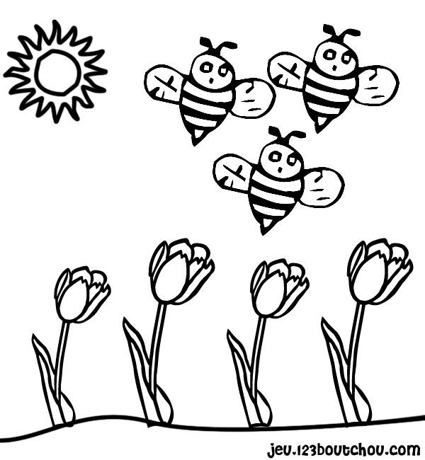 Pouf Le Dessin Fleur Papillon Pour Enfants A Imprimer Gratuitement Assistante Maternelle Biz