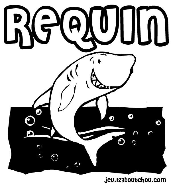 Maman papa expliquez moi ce joli coloriage d 39 enfant - Coloriage requin blanc imprimer ...