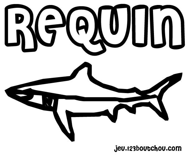 Maman papa expliquez moi ce joli coloriage d 39 enfant - Coloriage de requin a imprimer gratuit ...