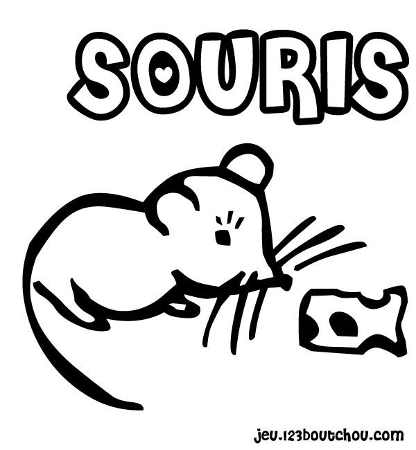 Coloriage en pique niqhe avec la souris à imprimer