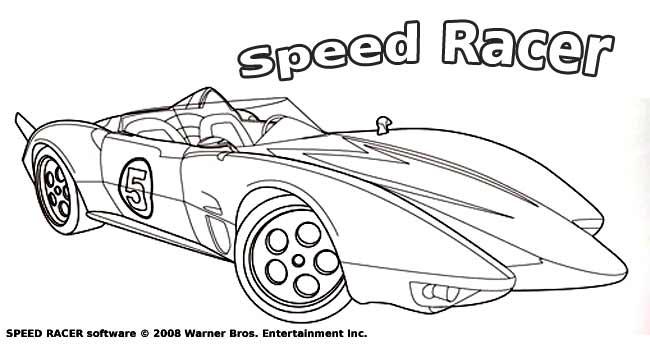 Coloriage Speed Racer Pour Enfants à Imprimer Gratuitement