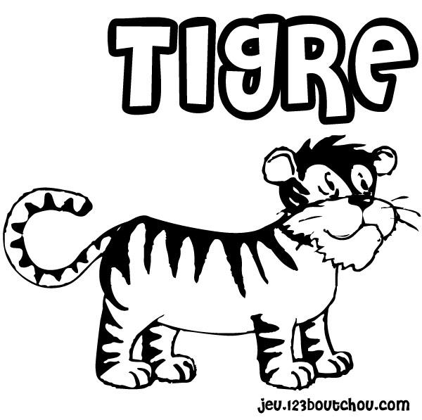 Coloriage imprimer gratuit tigre - Dessin de tigre facile ...