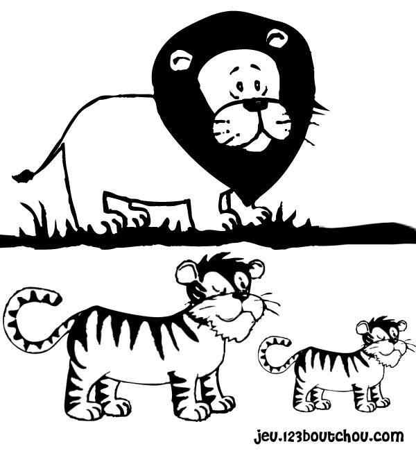 Coloriage tête de tigre à imprimer