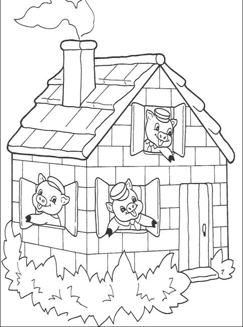 Maman papa expliquez moi ce joli coloriage d 39 enfant - Coloriage trois petits cochons ...