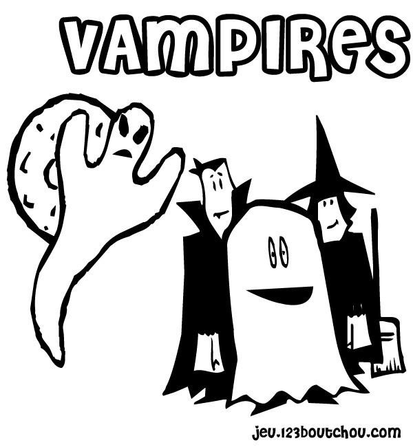 Jeux de vampire - Coloriage de vampire a imprimer ...
