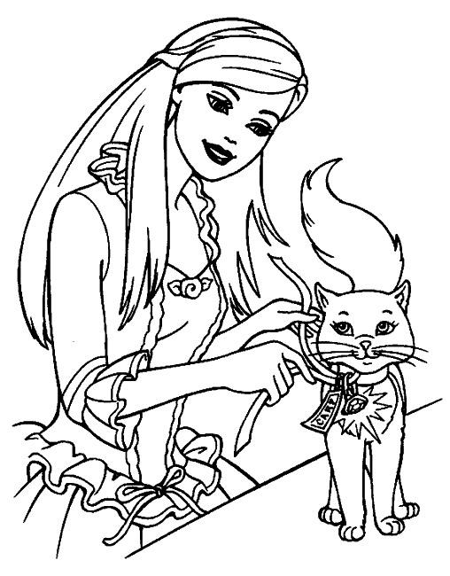 Coloriage barbie coeur de princesse - Coloriage de barbie princesse ...
