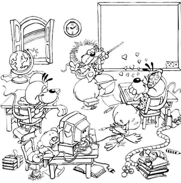 Maman papa expliquez moi ce joli coloriage d 39 enfant - Dessin de classe d ecole ...