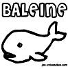 coloriage enfant Bilou, la baleine bleue