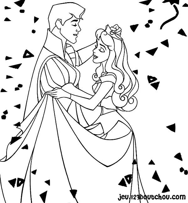 Princesse et coloriage nouvel an princesse - Jeu de coloriage de princesse ...