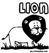coloriage enfant Alex le lion