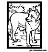 coloriage enfant Didou le loup garou