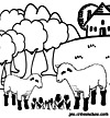 coloriage enfant Shaun le mouton