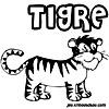 coloriage enfant Le petit tigre blanc