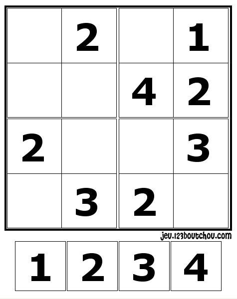 Maman papa expliquez moi cette petite grille sukodu d 39 enfant - Grille sudoku a imprimer gratuitement ...